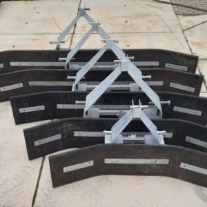 Rubberschuiven met strip met staalinlage combi 3-punts lepelinsteek